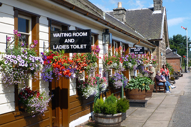 Boat of Garten station in full bloom, a must visit for the floral display